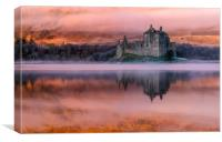 Misty Sunrise Kilchurn Castle, Canvas Print