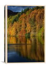 Autumn Loch Tummel, Canvas Print