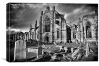 Ruins of Melrose Abbey , Canvas Print