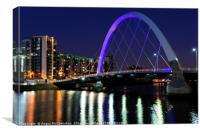 Clyde Arc Bridge at night, Canvas Print