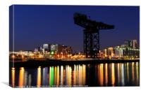 Finnieston Crane at night, Canvas Print