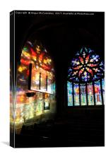 Stained glass reflections, Canvas Print