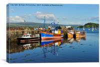 Fishing boats in Tobermory harbour, Canvas Print