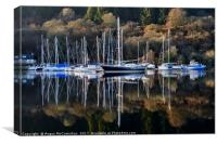 Winter yacht haven on the Crinan Canal, Canvas Print