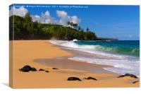 Secret Beach Hawaii, Canvas Print