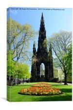Spring flowers in Princes Street Gardens Edinburgh, Canvas Print