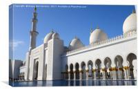 Grand Mosque Abu Dhabi, Canvas Print