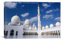 Inner Courtyard of Grand Mosque Abu Dhabi, Canvas Print