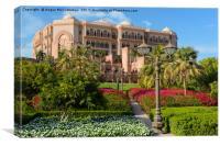 Emirates Palace Hotel Abu Dhabi, Canvas Print