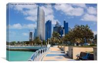 Corniche waterfront Abu Dhabi, Canvas Print