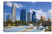 Abu Dhabi skyline, Canvas Print