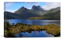 View across Dove Lake to Cradle Mountain, Canvas Print