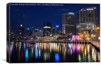 Darling Harbour by night, Canvas Print
