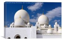 Domes of Grand Mosque Abu Dhabi, Canvas Print