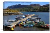Fishing boats in Plockton harbour, Canvas Print