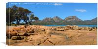 Coles Bay looking towards Hazard Mountains, Canvas Print