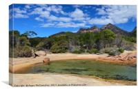 Honeymoon Bay, Freycinet National Park, Tasmania, Canvas Print