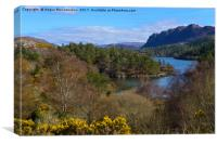 Looking down on Loch Carron from Plockton village, Canvas Print