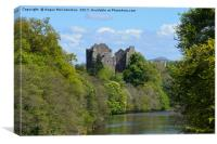 Doune Castle on the River Teith, Canvas Print