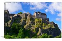 Castle Rock Edinburgh, Canvas Print