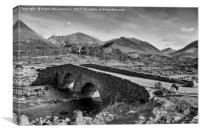 Sligachan Bridge and the Cuillins (mono), Canvas Print