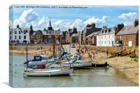 Stonehaven harbour, Canvas Print