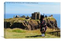 Piper at Dunnottar Castle, Canvas Print