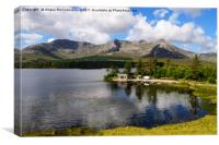 Boathouse on Lough Inagh, County Galway, Canvas Print
