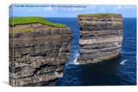 Sea cliffs Downpatrick Head, County Mayo, Ireland, Canvas Print