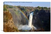 Rainbow over Devil's Cataract - Victoria Falls, Canvas Print