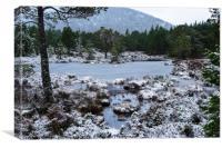 Frozen lochan, Canvas Print