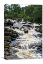 Falls of Dochart at Killin, Canvas Print
