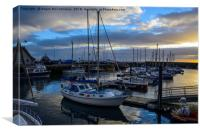 Sunset over Anstruther harbour, Canvas Print