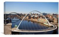 Bridge View, Newcastle-upon-Tyne, Canvas Print