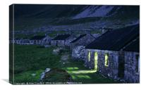 The Street at dusk, St. Kilda, Scotland, Canvas Print