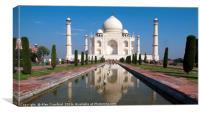 The Taj Mahal, India, Canvas Print