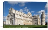 Cathedral and Leaning Tower of Pisa, Italy, Canvas Print