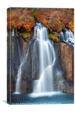Hraunfossar Waterfall, Iceland, Canvas Print