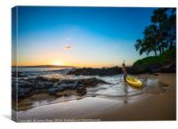 Beautiful and secluded Secret Beach in Maui, Hawai, Canvas Print