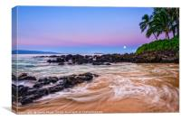 Sunrise over beautiful and secluded Secret Beach i, Canvas Print