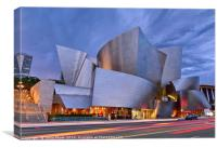 Sunset at the Walt Disney Concert Hall in Downtown, Canvas Print