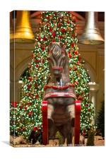 The magical holiday seasonal display in Bellagio, Canvas Print