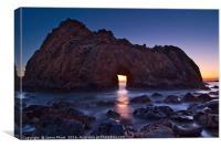 Sunset on Arch Rock in Pfeiffer Beach, Big Sur., Canvas Print