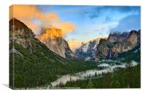 Dramatic View of Yosemite National Park Vista, Canvas Print