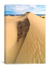 Collapsed sand dune ridge in Death Valley National, Canvas Print
