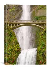Close up view of Multnomah Falls in the Columbia R, Canvas Print
