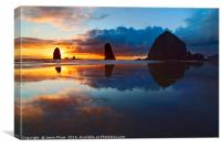 Cannon Beach Sunset in Oregon