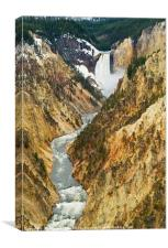 Yellowstone Falls from Artist Point, Canvas Print