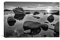 Dramatic view of Bonsai Rock in Lake Tahoe.