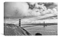 The world famous Golden Gate Bridge in San Francis, Canvas Print